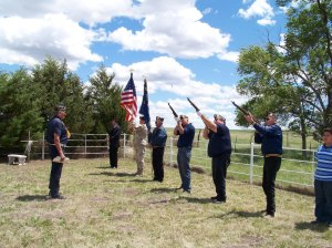 Members of Chauncey Eagle Horn Post 125 render honors for Veterans Day last year. VI WALN | LAKOTA COUNTRY TIMES